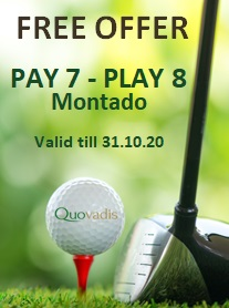 1 Free Golfer in 8 offer at Montado