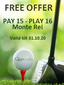 1 Free Golfer in 16 offer at Monte Rei Golf Course