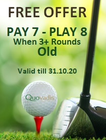1 Free Golfer in 8 offer at D.Pedro Old Course