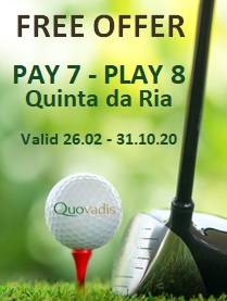 1 Free Golfer in 8 offer at Quinta da Ria