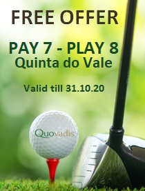 1 Free Golfer in 8 offer at Quinta do Vale