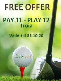 1 Free Golfer in 12 offer at Troia
