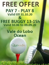 1 Free Golfer in 8 offer at Vale do Lobo Ocean